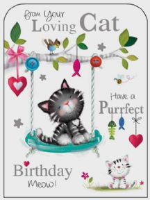 From Your Loving Cat Birthday Card